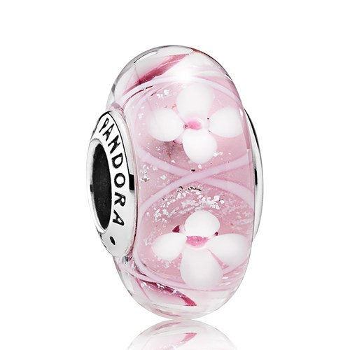 PANDORA Pink Field of Flowers Charm