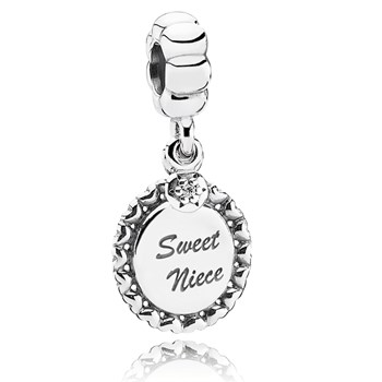 PANDORA Sweet Niece with Clear Dangle RETIRED 346977