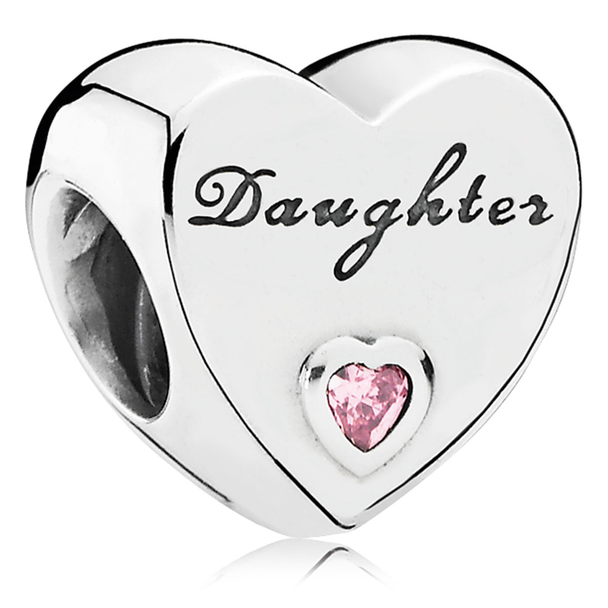 802-3078-PANDORA Daughter's Love with Pink CZ Charm