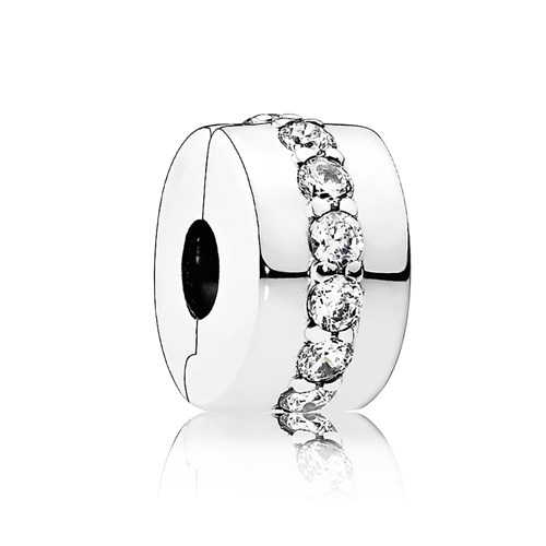 PANDORA Shining Path with Clear CZ Clip