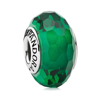 PANDORA Fascinating Green Faceted Murano Glass 344247