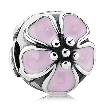 PANDORA Cherry Blossom with Pink Enamel Clip-342917