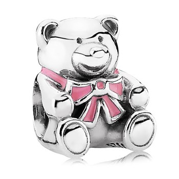 PANDORA It's a Girl Bear with Pink Enamel Charm-342899