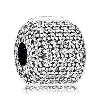 PANDORA  Pavé Barrel with Clear CZ Clip