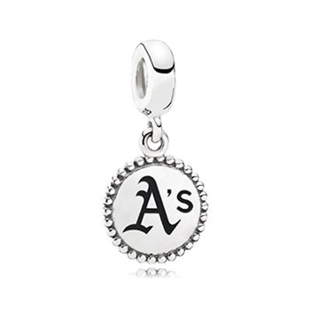 PANDORA Oakland Athletics Baseball Charm RETIRED LIMITED QUANTITIES!-345447