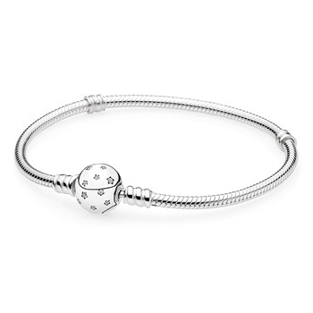PANDORA Starry Sky Clasp with Clear CZ Bracelet RETIRED