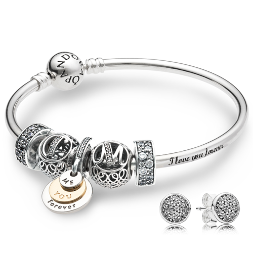Pandora Love You Forever Personalized Bangle Gift Set