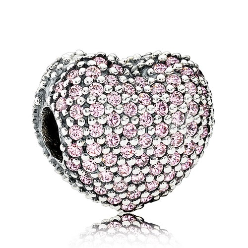 PANDORA Pavé Open My Heart, Clear CZ Charm