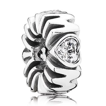 PANDORA Mother's Pride with Clear CZ Spacer-802-2948