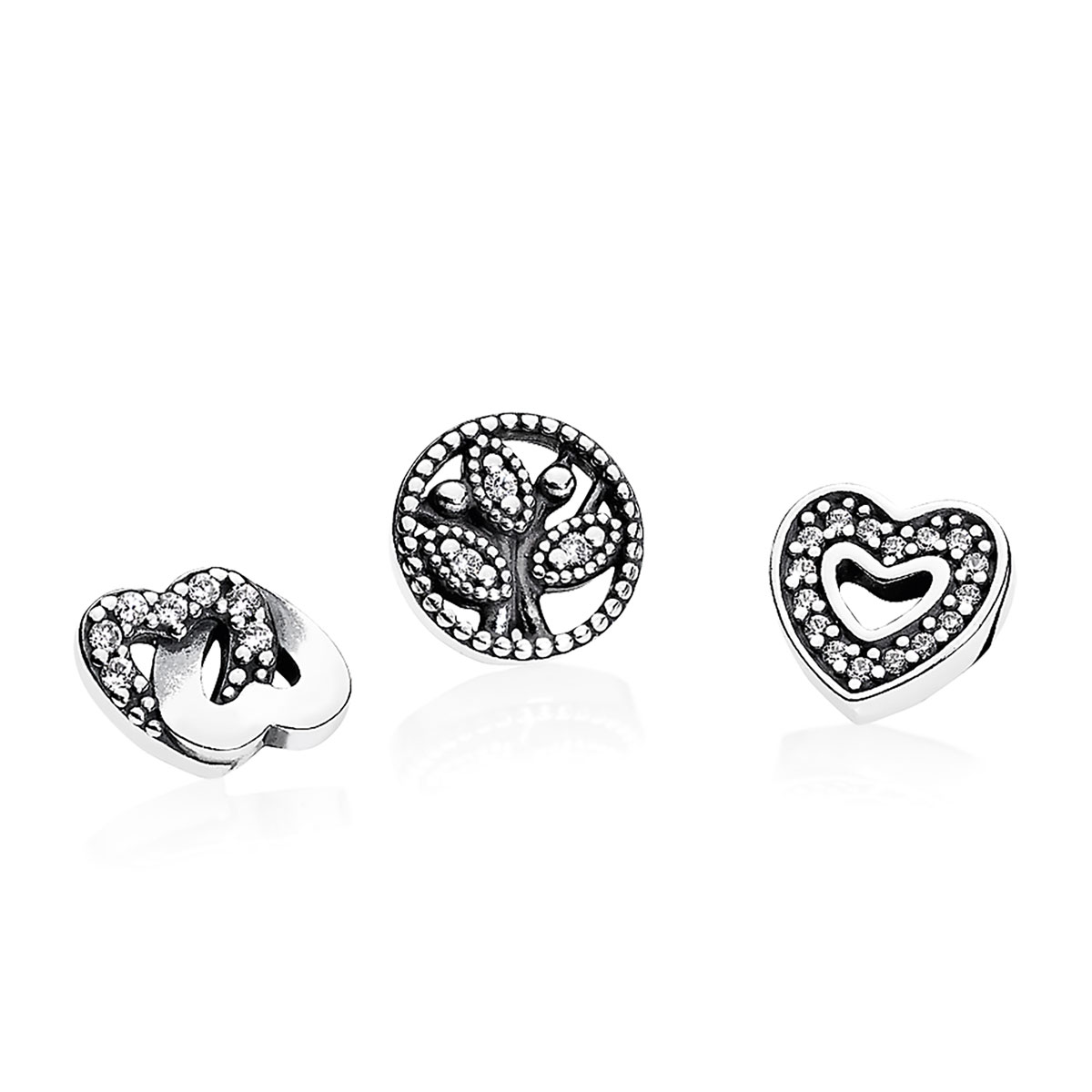 PANDORA Love & Family Petites with Clear CZ
