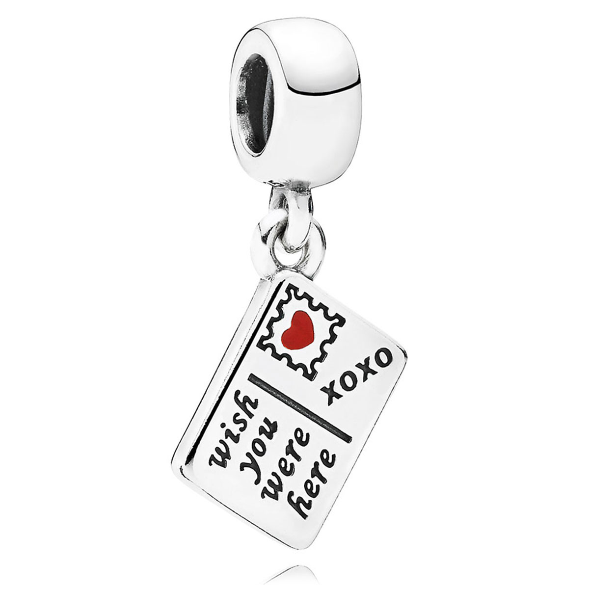 PANDORA Wish You Were Here with Red & Blue Enamel Dangle-802-3035