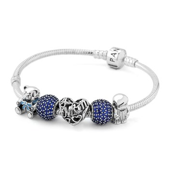 1265-PANDORA A Mother's Love from Son Charm Bracelet