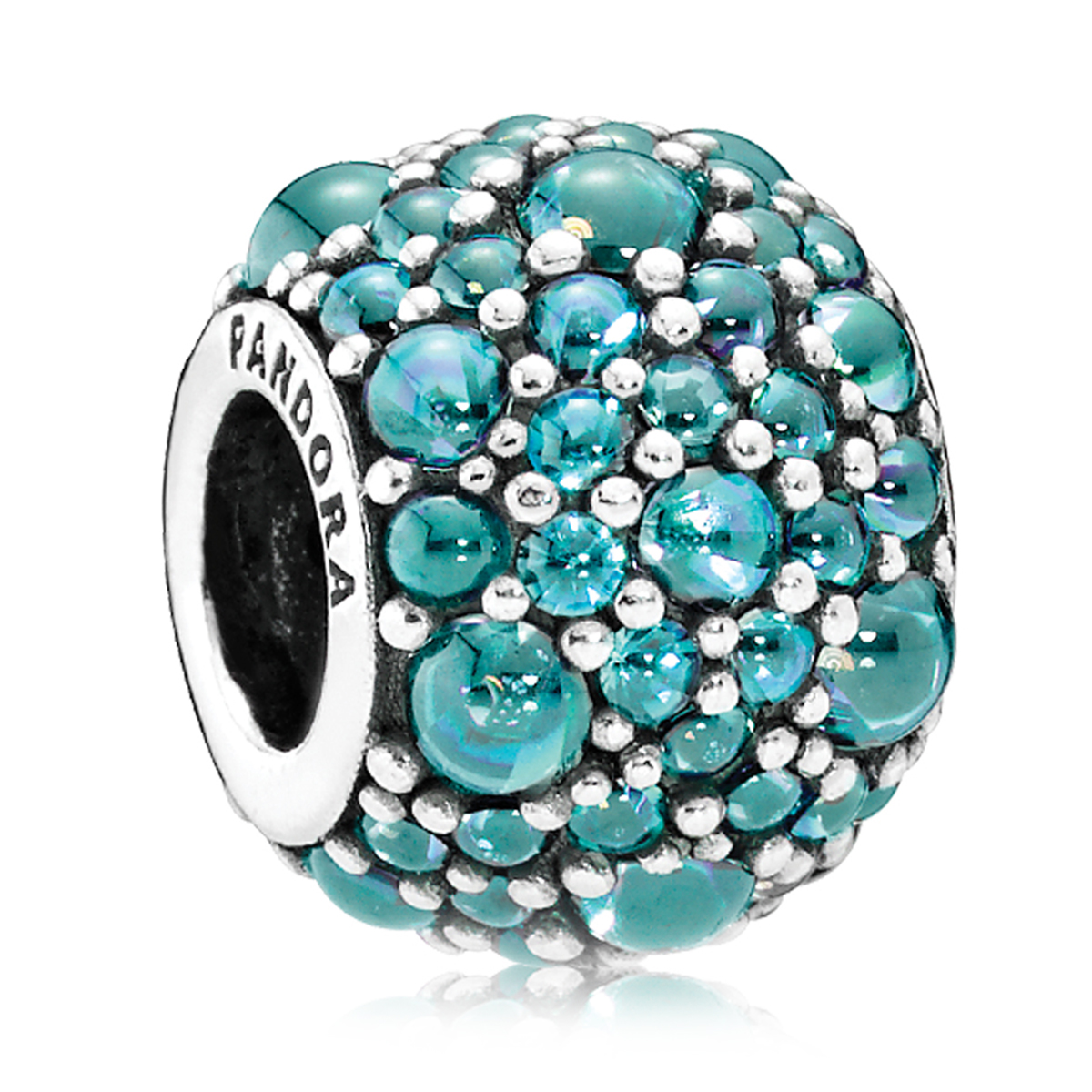 PANDORA Shimmering Droplets with Teal CZ Charm
