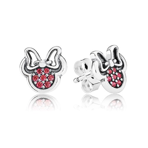 116cb9536 PANDORA Disney Sparkling Minnie with Red CZ Stud Earrings- RETIRED! -  Pancharmbracelets.com