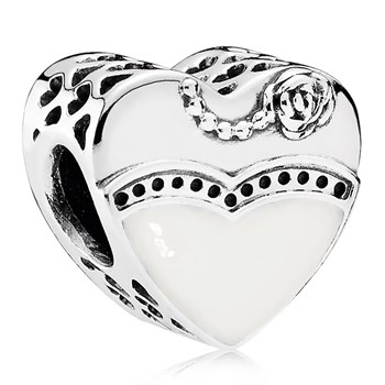 PANDORA Our Special Day with Black & White Enamel Charm