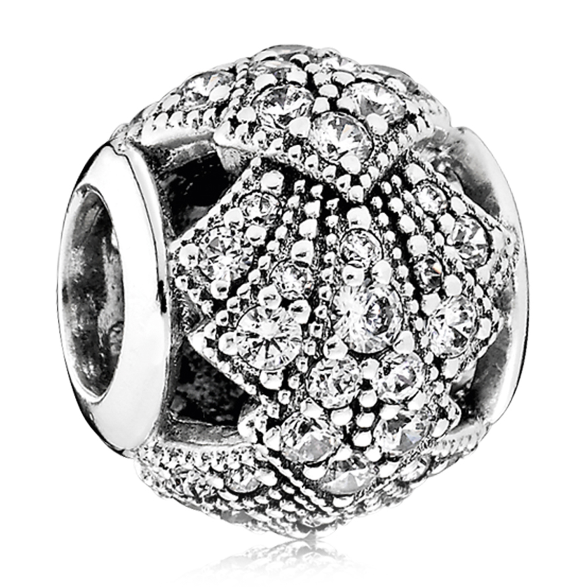 PANDORA Oriental Fan with Clear CZ Charm