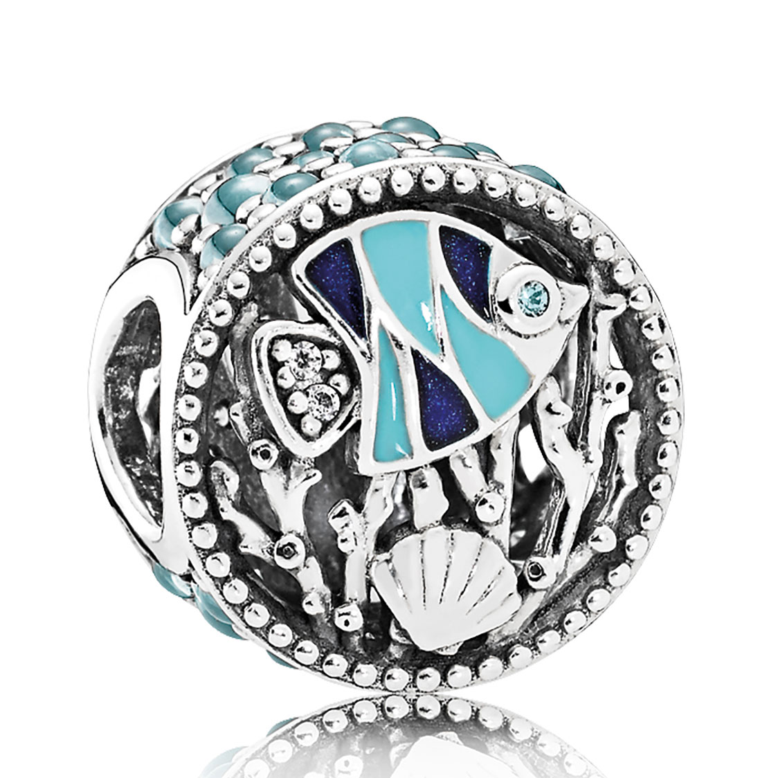 Pandora Ocean Life, Mixed Enamel & Multicolored