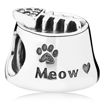 PANDORA Meow with Clear CZ Charm RETIRED LIMITED QUANTITIES!