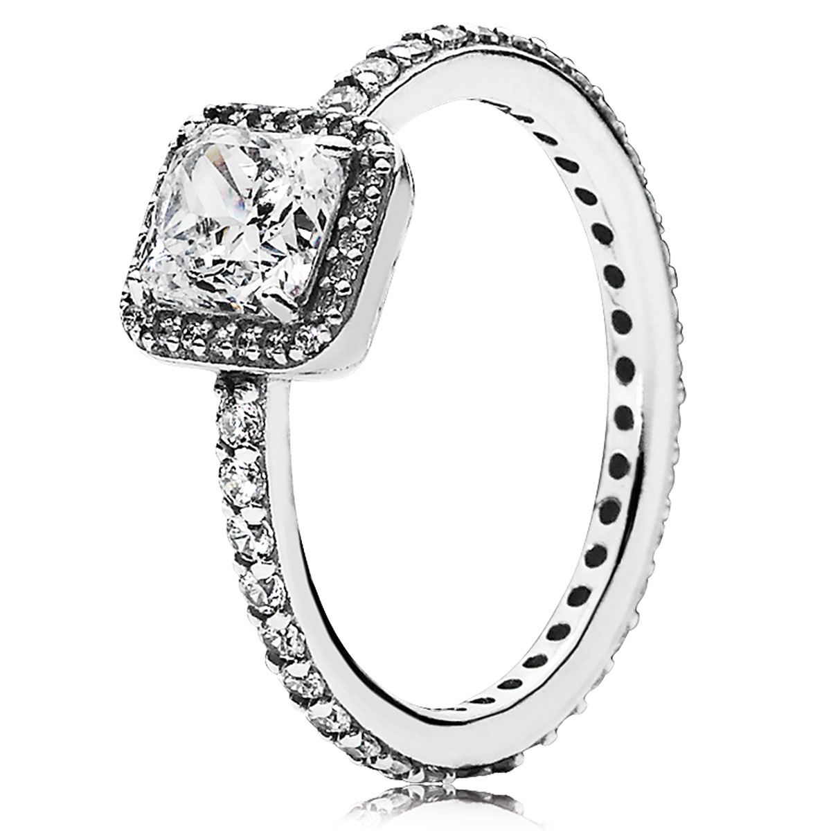 PANDORA Timeless Elegance with Clear CZ Ring