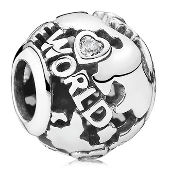PANDORA Around the World with Clear CZ Charm-802-3042