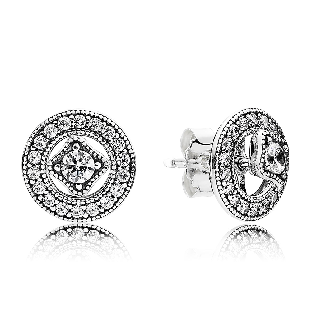 PANDORA Vintage Allure with Clear CZ Earrings