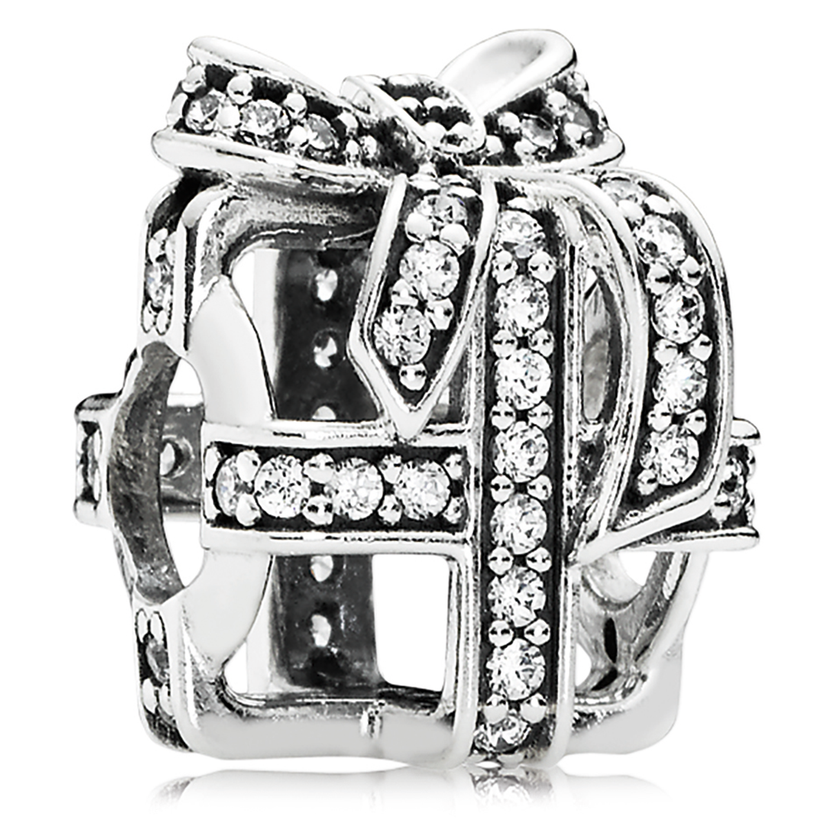 802-3131-PANDORA All Wrapped Up with Clear CZ Charm