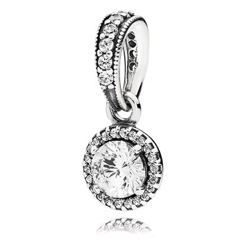 PANDORA Classic Elegance with Clear CZ Pendant-802-3064