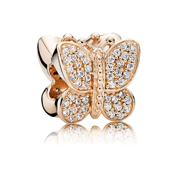 PANDORA Rose™ Sparkling Butterfly with Clear CZ Pavé Charm RETIRED 802-2971