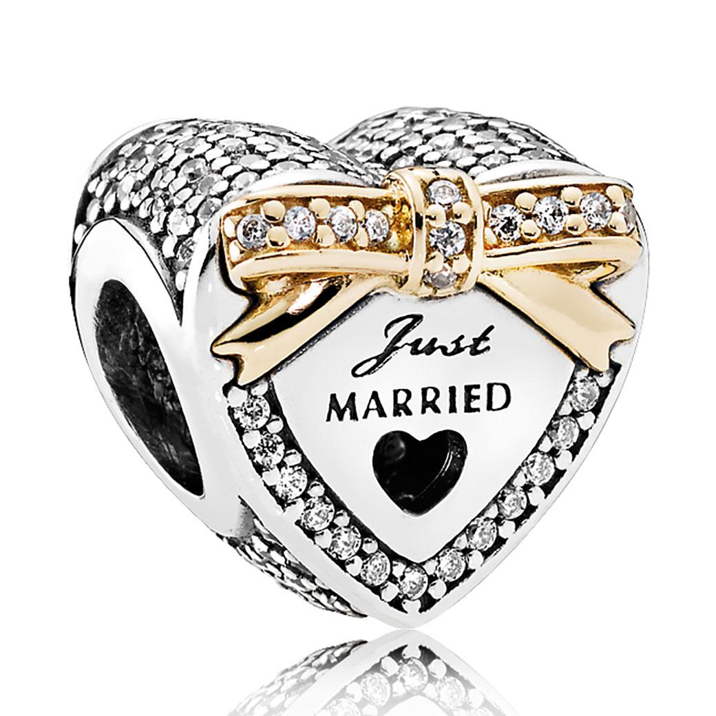 PANDORA Wedding Heart Clear CZ Charm Pancharmbraceletscom