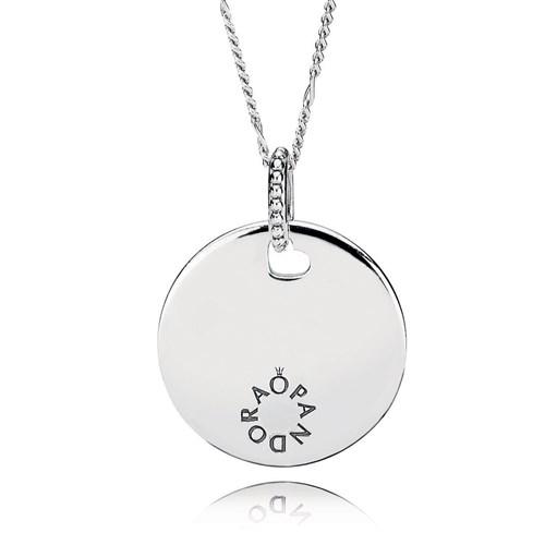 Pandora Women Silver Pendant Necklace - 397122-60 KpfW6fT