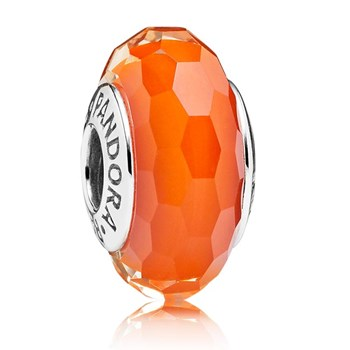 PANDORA Fascinating Orange Faceted Murano Glass 347062