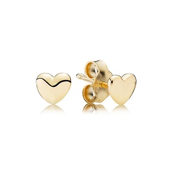 PANDORA 14K Petite Heart Stud Earrings-804-380