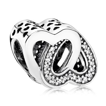 PANDORA Entwined Love with Clear CZ Charm