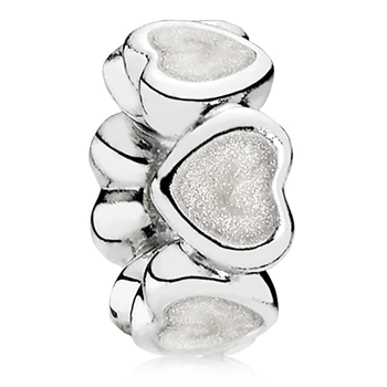 PANDORA Abundance of Love with Silver Enamel Spacer 802-3138