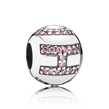 348032-PANDORA Surrounded by HOPE with Pink CZ Charm RETIRED