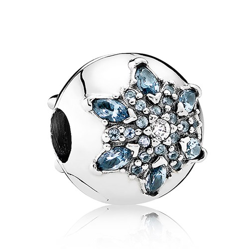PANDORA Crystalized Snowflake, Multi-Colored Crystal & Clear CZ Clip