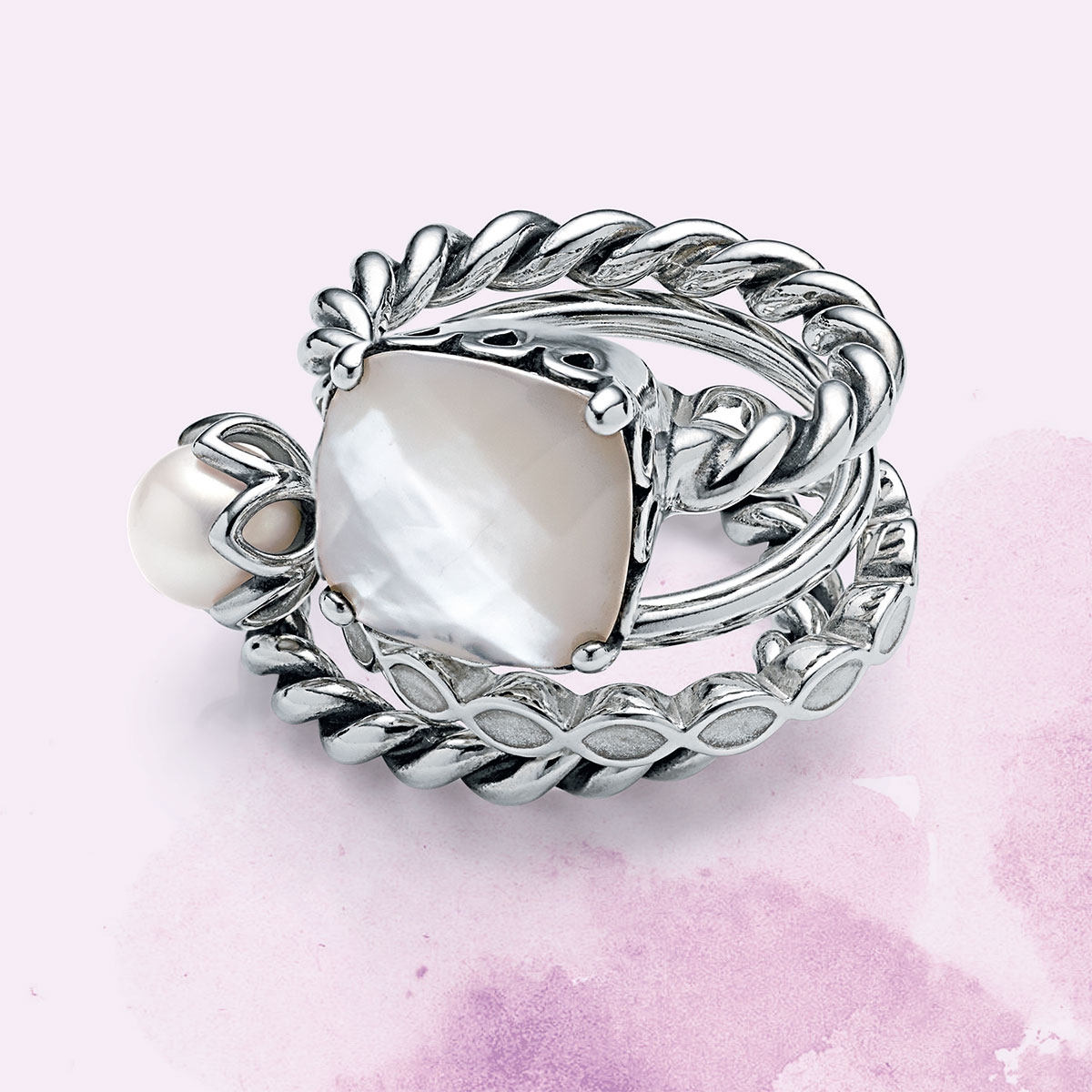 1ab49bb54 ... sincerity ring mother of pearl Crown Silver White Pearl Rings 925 Ale  Sterling Silver Rings Fashion Rings Silver Jewelry Rings for Pandora ...