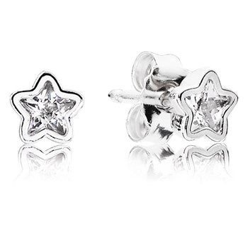 PANDORA Starshine with Clear CZ Earrings-804-428