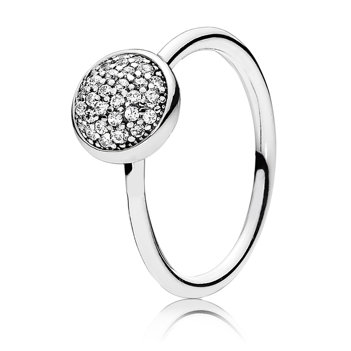 PANDORA Dazzling Droplet with Clear CZ Ring