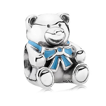 PANDORA It's a Boy Bear with Blue Enamel Charm-342900