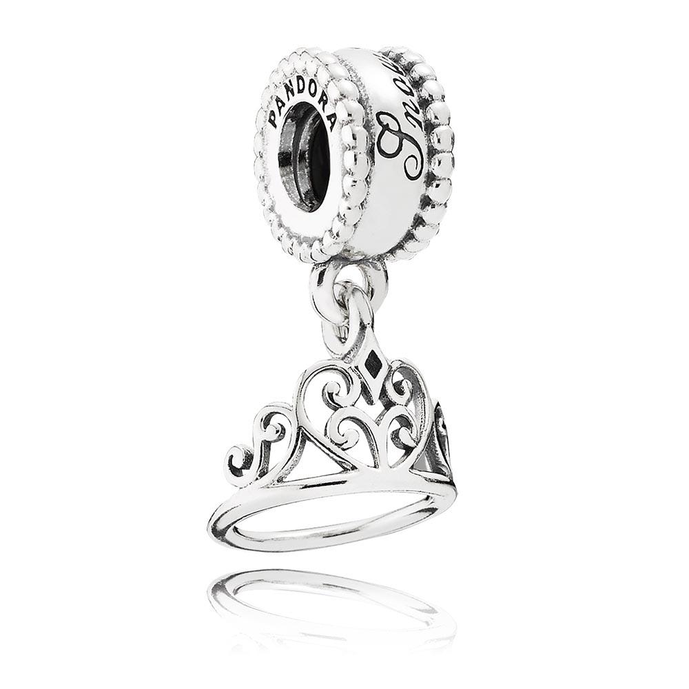 Disney Ariel Tiara Silver Dangle Charm