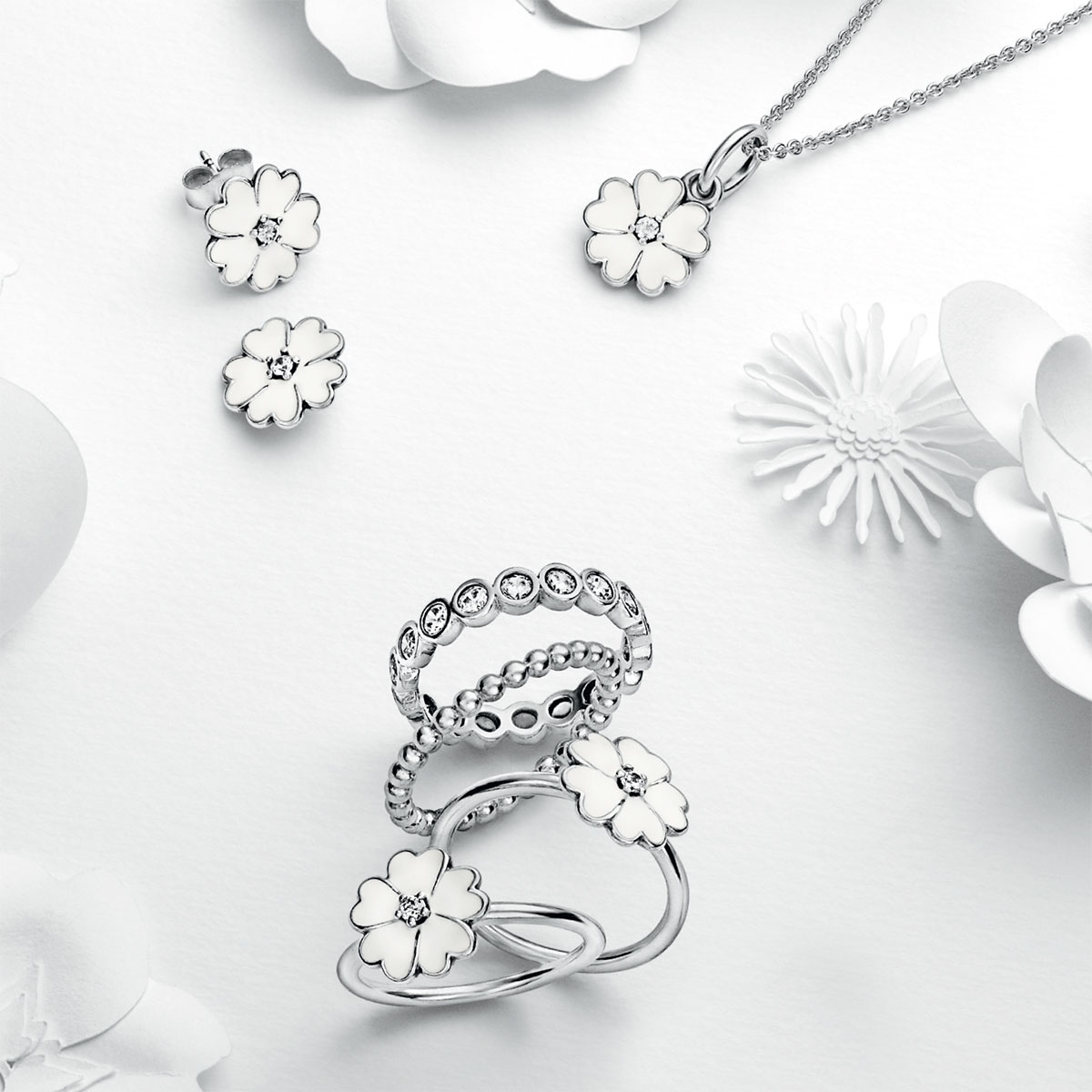 Pandora primrose with white enamel pendant 801 656 pandora primrose with white enamel pendant alt aloadofball Image collections