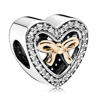 PANDORA Bound By Love with 14K and Clear CZ Limited Edition Charm RETIRED
