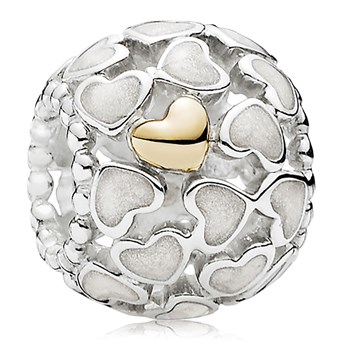 PANDORA Abundance of Love with 14K and Silver Enamel Charm *PANDORA Store Exclusive* 802-3117