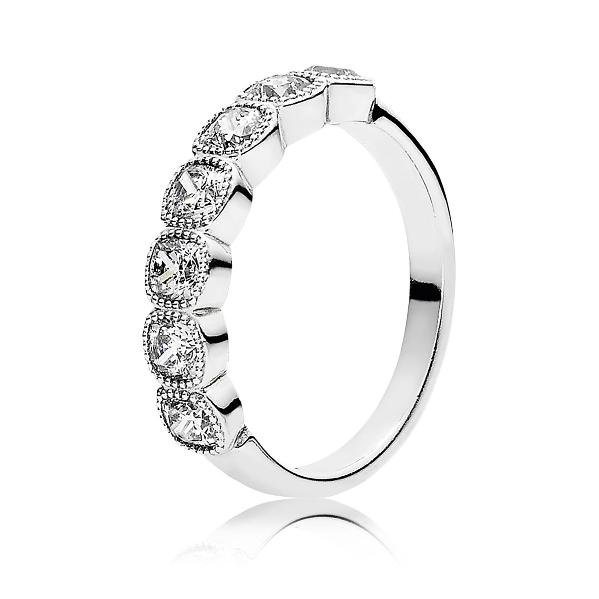 PANDORA Alluring Cushion with Clear CZ Ring
