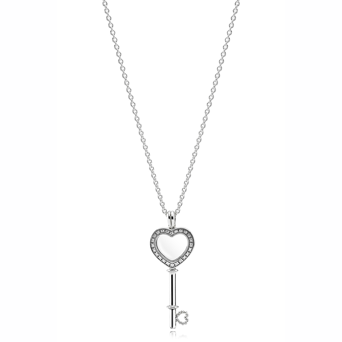 watches necklace accent heart designs overstock db orders on jewelry love sterling key diamond over product free silver shipping