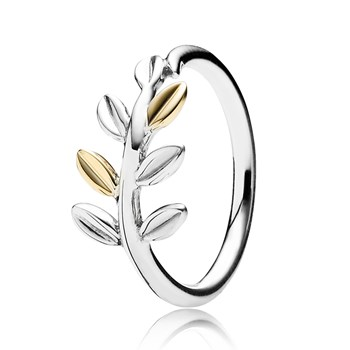 PANDORA Laurel Leaves with 14K Ring RETIRED