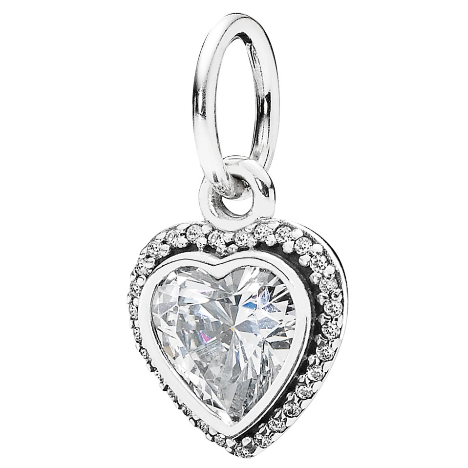 girls lily key in pendant silver for diamond lotty pandora