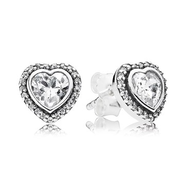 PANDORA Sparkling Love with Clear CZ Stud Earrings-804-390
