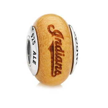 PANDORA Cleveland Indians Baseball Wood Charm RETIRED ONLY 2 LEFT!-345552